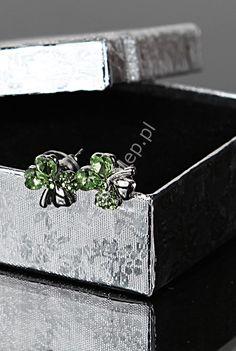 Earrings leaf - good luck , kolczyki koniczynki