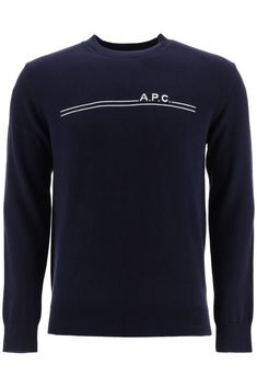 $184.0. A.P.C. Top A.P.C. Logo Sweater #apc #top #knit #sweater #cotton #clothing Printed Sweatshirts, Hoodies, Harrington Jacket, Models, Apc, Hooded Sweater, Designer, Cashmere, Hoodie