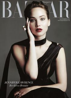 Jennifer Lawrence Graces the Cover of Haper's Bazaar UK