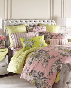 """""""Oranienbaum"""" Bed Linens by Designers Guild USA Inc at Horchow."""