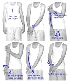 Increase energy levels in 1 minute. This whole movement should take about 1 second. Repeat 6 more times and then switch hands.