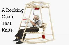 A Rocking Chair that Knits Hats