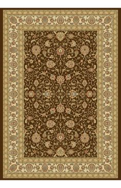 Dynamic Rugs Ancient Garden 57120 Chocolate Rug