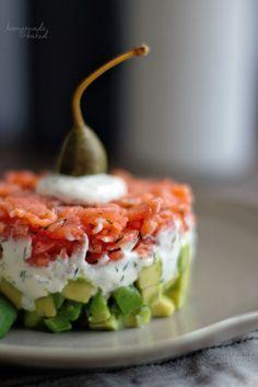 Baked Salmon Recipes, Avocado Recipes, Healthy Chicken Recipes, Healthy Diet Tips, Healthy Drinks, Salmon Tartare, Good Food, Yummy Food, Food Blogs