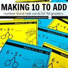 Making 10 to Add is one of the most important mathematical skills students build in first grade. It gives students a starting place when adding and base 10 becomes a 'safety' when students aren't sure where to start.