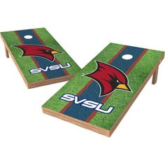 Wild Sports 2' x 4' Saginaw Valley State XL Tailgate Bean Bag Toss Shields
