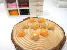 50pcs 12MM Orange with Blue Color Splash Pyramid Studs by eSupply, $1.99
