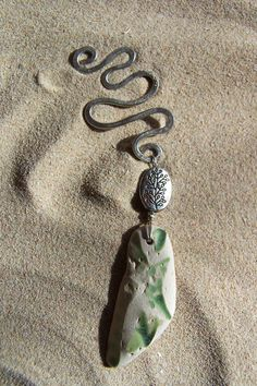 Sea Tumbled Pottery and Handmade Hammered by SilverBeachSeaGlass, $27.00