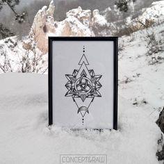 Mandala triquetra geometric Celtic tattoo