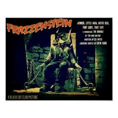 Frazzenstein Unchained! Poster - halloween decor diy cyo personalize unique party
