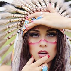 Cultural appropriation of Native Americans. Headdresses are special and ceremonial. Not fashion accessories!