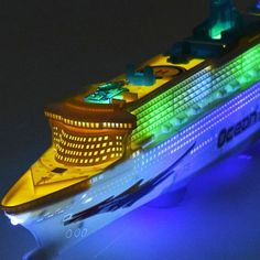 Bath Toys that light up. LED Bath toys include Chinatera Children Music Ocean Liner Flashing LED Sound Electric Cruises Boat Model Toys. Boats for boys