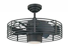 Trent Austin Design Glasgow Enclave 7 Blade LED Ceiling Fan with Remote, Light Kit Included Finish: Natural Iron Decor, House Design, Fan Light, Ceiling Lights, Trent Austin Design, Caged Ceiling Fan, Ceiling, Lights, Light
