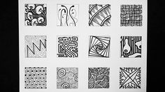 Easy Zentangle Doodles - How to Make12 Extra Patterns - Step by Step Tut...