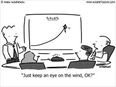 Small Business Cartoon: Sales Are Flying High