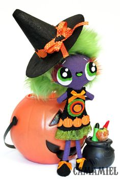 Halloween witch doll Bruxa by camamiel on Etsy