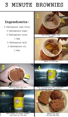 How To Make Delicious 3 Minute Brownies In A Mug