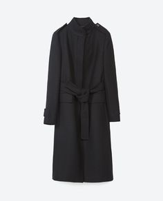 Image 8 of HIGH COLLAR COAT from Zara
