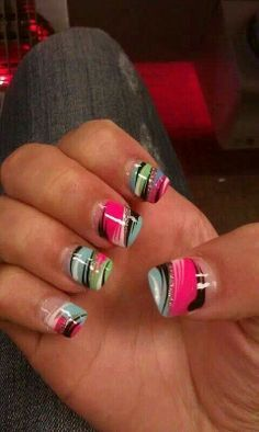 Looks like some fun airbrushed nail designs