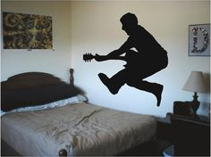 Jumping Guitar Player  Any Room Vinyl Wall by SweetumsSignatures, $5.75