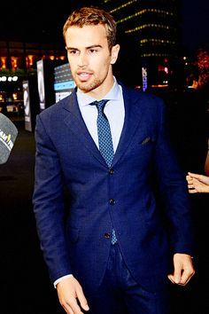 Theo James in suits