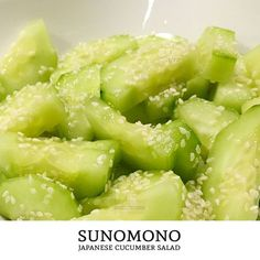 How to Make Sunomono: Japanese Cucumber Salad Recipe   Tiny Kitchen Cuisine   http://tiny.kitchen/