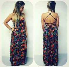Long Dress - Flower - Summer - Vestido Longo - Floral - Estampa - Estampado - Verão