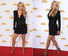 On the Brinkley: 59-year-old Christie Brinkley was utterly stunning in a black dress with gold accents.