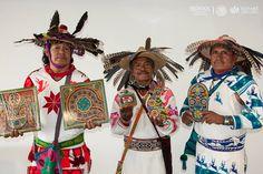 Representantes wixárikas de la comunidad de Guadalupe Ocotán, municipio de La Yesca en Nayarit
