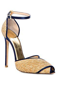 Ermanno Scervino ~ Spring Open Toe Ankle Strap Heel, Natural, 2014