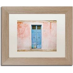 Trademark Fine Art 'The Blue Door' Canvas Art by Ariane Moshayedi, White Matte, Birch Frame, Size: 11 x 14, Multicolor