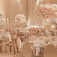 Round Mirror tables were included in the floor plan. The curves provided an interesting contrast to the glass-top crystal chandelier tables. The room as draped in a soft chiffon. Guest seating was designed with our Washington Rose Gold Chairs and our Infinity Rose Gold Chairs. @CeliosDesign provided the gorgeous florals. Creative Partners: Planning and Design: @madihak @xquisiteevents Venue: @montagebh Photography: @DukeImages #EngagementParty. @revelrymatias for #revelryeventdesigners