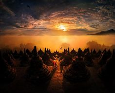 Asia is a beautiful mysterious continent with breathtaking landscapes this is exactly how photographer Weerapong Chaipuck shows his landscape stock photos Dreamy Photography, Exposure Photography, Landscape Photography, Travel Photography, Learn Photography, Asian Landscape, Landscape Pictures, Temple De Borobudur, Amitabha Buddha
