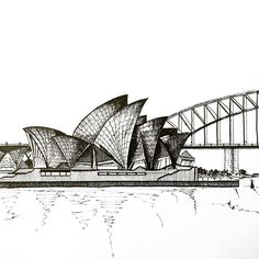 Sydney Opera House & Harbour Bridge ink on paper  Уже как 2 месяца в Австралии Делюсь обыденными красотами Сиднея тут: @c.the.beauty Присоединяйтесь  #sydney #australia #ink #inkdrawing #sketchbook #drawanyway #zentangle #doodle #art #instaart #sydneyoperahouse #operahouse #harbour #harbourbridge #sydneyharbourbridge #travel #travelblog #travelgram #ilovesydney by elena_levkovskaya http://ift.tt/1NRMbNv