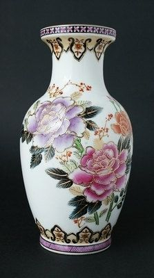 Chinese Pottery Vase - Zhong Guo Chao Cai - 1960 to 1970s