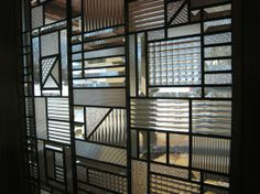 textured clear stained glass - i like this more than colored glass!