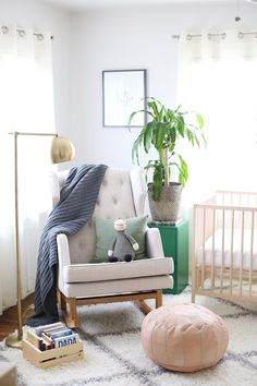 Baby Viklund's eclectic nursery is calming, inviting, neutral and resonates with who we are.