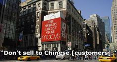 NYC Macy's Reportedly Fired Asian American Employees For NOT Racially Profiling Chinese Customers https://nextshark.com/macys-herald-square-chinese-customer-racial-profiling/