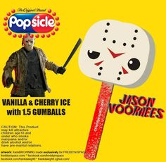 Check out these Horror Popsicles, Including Freddy, Jason, Critters, and Michael Myers - Daily Dead Horror Icons, Horror Films, Horror Art, Latest Horror Movies, Funny Horror, Horror Cartoon, Jason Voorhees, Friday The 13th, Michael Myers