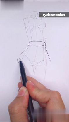 source-cycheatpoker.com Anime Drawing Tutorials, Fashion Drawing Tutorial, Fashion Figure Drawing, Body Drawing Tutorial, Art Tutorials, Fashion Design Sketchbook, Fashion Design Drawings, Art Sketchbook, Fashion Sketches