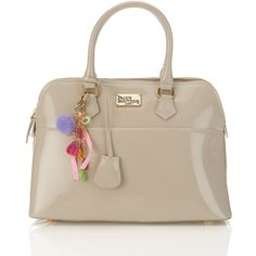 Maisy Bag by Pauls Boutique** ($88) ❤ liked on Polyvore featuring bags, handbags, nude, bags & purses, paul's boutique, purses, brown patent leather handbag, brown bag, nude handbags and patent purse