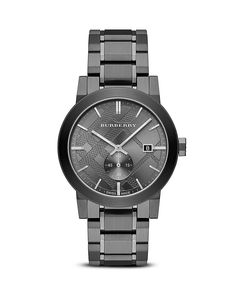 Burberry Men's Sub-Eye Check Stamped Watch, 42mm | Bloomingdale's