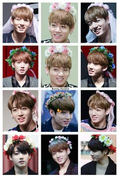 My Aesthetic: Jungkook w/ flower crowns