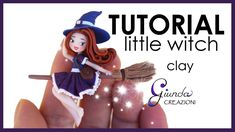 tutorial: miniature witch on a broom