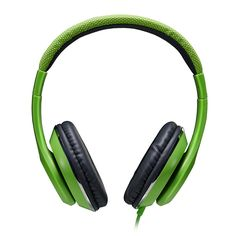 Amazon.com: AUSDOM F01 Full-Size Stereo Sports Gaming Headphones,Wired, Over-ear, Built-in Inline Microphone,Leather Ear Cups, for Laptop Pc Mp3 Mp4 Smartphone, Green: Cell Phones & Accessories