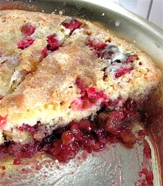 Nantucket Cranberry Cake A layer of sweetened fresh cranberries and walnuts topped with tender moist yellow cake Canned Cranberry Sauce, Cranberry Pie, Cranberry Recipes, Cranberry Walnut Pie Recipe, Cranberry Muffins, Holiday Recipes, Baking Recipes, Cake Recipes, Dessert Recipes