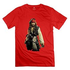 Mens Pirates Of The Caribbean Jack Sparrow O-neck T Shirts Size L Red @ niftywarehouse.com #NiftyWarehouse #Nerd #Geek #Entertainment #TV #Products