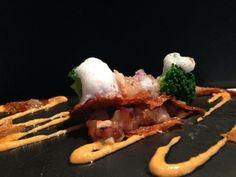 Tartar de gambas con crujiente de marisco y peta z #Tapas