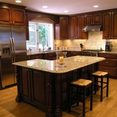 L-shape Island Design Ideas, Pictures, Remodel, and Decor