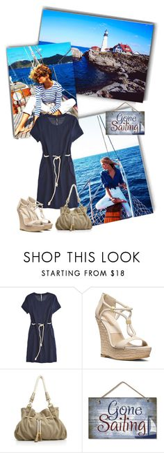 """Going sailing"" by priscilla12 ❤ liked on Polyvore featuring Calypso St. Barth, Michael Kors, Big Buddha, Wedges and Nautical"